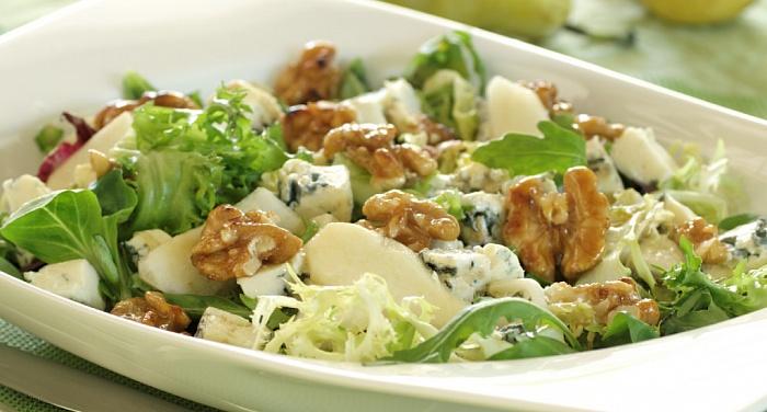 Рецепт салата с грецкими орехами